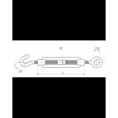 Захват (М10, М8) кольцо/крюк покрытие цинк белый