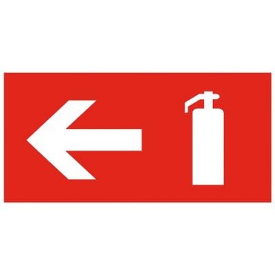 Направление расположения огнетушителя (стрелка) (на клеевой основе)