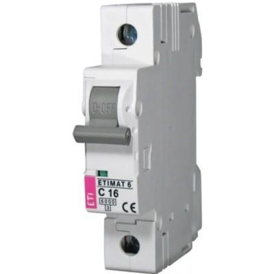 Автоматический выключатель ЕТИМАТ6 С 16А 1Р