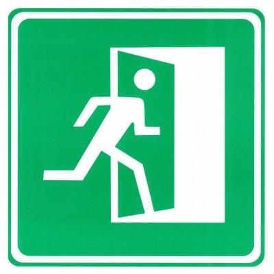 "Табличка (знак) аварийный выход - ""направо"""
