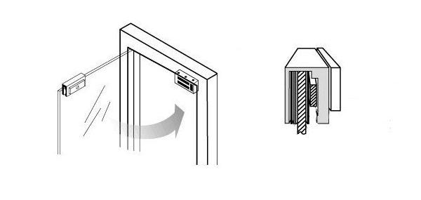 как установить электромагнитный замок - фото